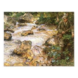 Forellen strömmer i Tyrolen av John Sargent 10,8 X 14 Cm Inbjudningskort