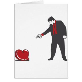Foren besegrar kärlek hälsningskort