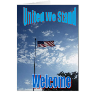 """""""Förenade oss står"""" det nya US-medborgarekortet Hälsningskort"""