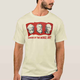 """""""Förenar arbetare av världen!"""", Marx Engels, Lenin Tee Shirt"""