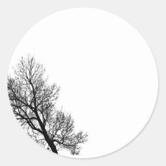 Förenklad vild runt klistermärke