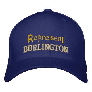 Föreställ det Burlington locket Broderad Keps