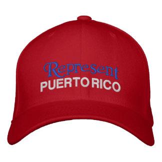 Föreställ det Puerto Rico locket Broderad Keps