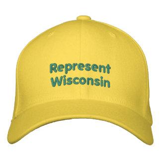 Föreställ det Wisconsin locket Broderad Keps