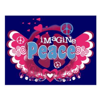 Föreställ fred vykort