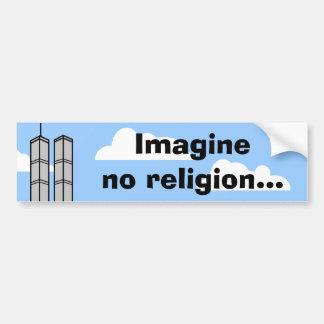 Föreställ ingen religion… bildekal
