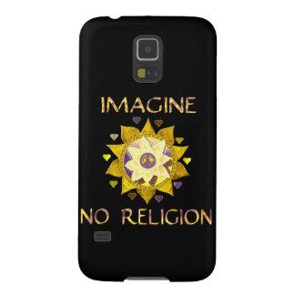 Föreställ ingen religion galaxy s5 fodral