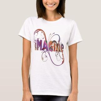 """""""Föreställ"""" kvinna t-skjorta Tee"""