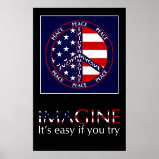 Föreställ USA affischen Poster
