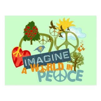 Föreställ världsfred vykort