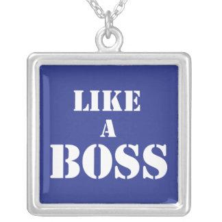 Företags chef silverpläterat halsband