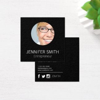 Företags göra slät fyrkantigt visitkort