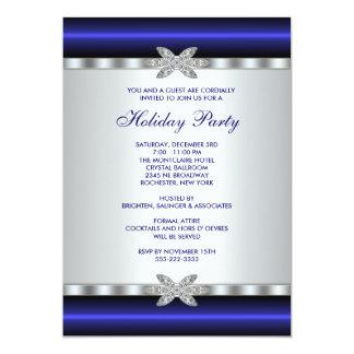 Företags händelse för julfestinbjudanblått 12,7 x 17,8 cm inbjudningskort
