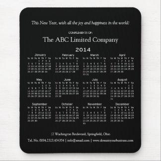 Företags helgdagpresentartikel för 2014 kalender musmattor