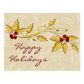 företags helgdagskort för bladguldjärnekbär vykort