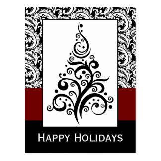 företags helgdagskort för elegant julgran vykort