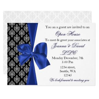 företags inbjudan för elegant stilfull marin 12,7 x 17,8 cm inbjudningskort