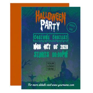 Företags inbjudan för Halloween dräktparty