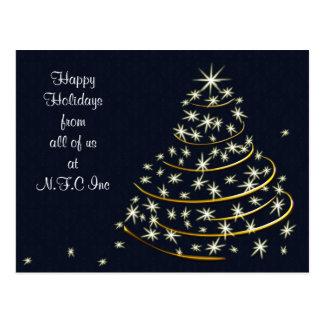 Företags julhälsningvykort vykort