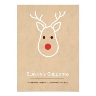 Företags julren 12,7 x 17,8 cm inbjudningskort
