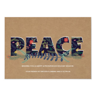 Företags kort för blom- Look för fredKraft papper 12,7 X 17,8 Cm Inbjudningskort