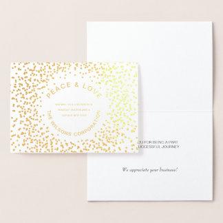 Företags Luxe typografi Julhälsningar Folierat Kort