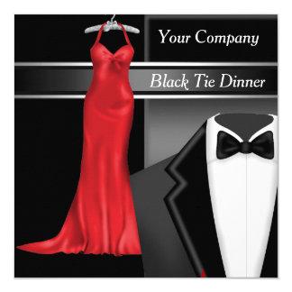 Företags middagparty för svart Tie Fyrkantigt 13,3 Cm Inbjudningskort