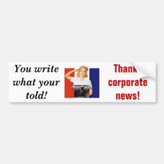 Företags nyheterna bildekal