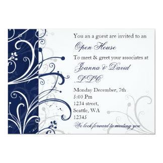företags partyinbjudan för elegant marin 12,7 x 17,8 cm inbjudningskort