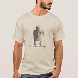 Företags robotarbete för Retro vintage för man T Shirts