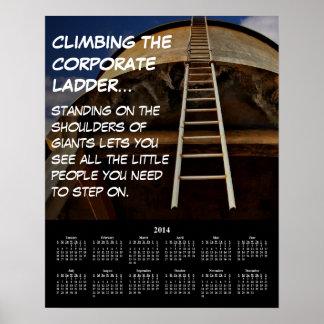 Företags stege 2014 för Demotivational kalender Posters
