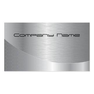 Företags visitkort för elegantt silver