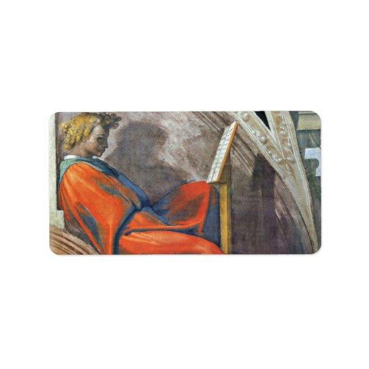 Förfäderna av Kristus 2 av Michelangelo Adressetikett