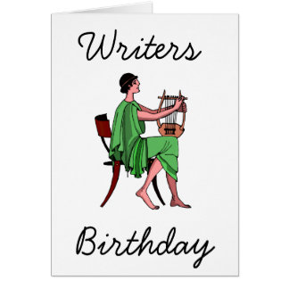 Författare födelsedag hälsningskort