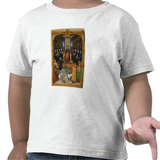 Författare som ägnar hans bok tee shirts