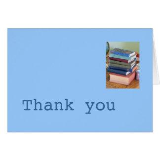 Författare tackkort hälsningskort
