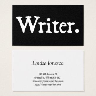 Författare Visitkort