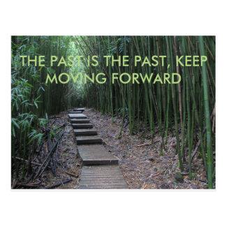 Förflutna är förflutnan, flyttning framåtriktat vykort