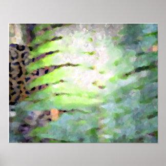 Förfölja leoparden print
