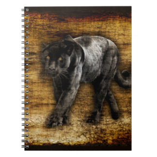 Förfölja svart panterkonstverk anteckningsbok