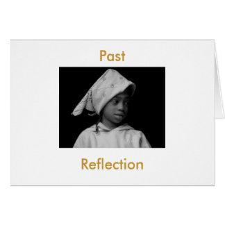 Förgången reflexion hälsningskort