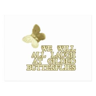Förgyllda fjärilar vykort