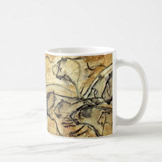 Förhistorisk mugg för kaffe för konst för
