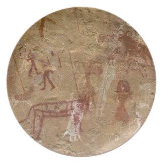 Förhistoriska stenmålningar, Akakus, Sahara Dinner Plate