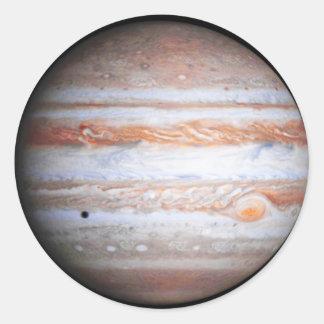 FÖRHÖJT avbilda av Jupiter Cassini flybyNASA Runt Klistermärke
