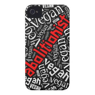 """""""FörkämpeVegan"""" Ord-Moln mosaik iPhone 4 Case-Mate Skydd"""