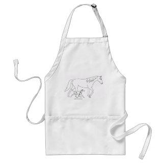 Förkläde: Dalmatian & häst Förkläde