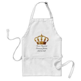 Förkläde för drottningElizabeth krona