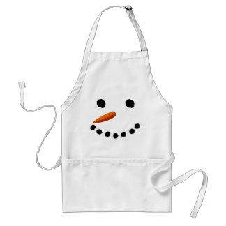 Förkläde för snögubbeansiktejul