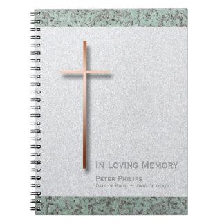 Förkoppra arg den begravnings- minnes- gästboken anteckningsbok